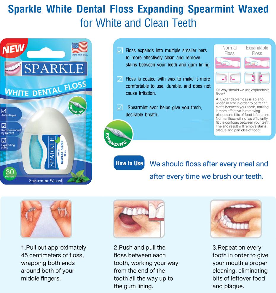 Sparkle White Dental Floss / ฟอกฟันขาวแบบ DIY สามารถทำได้